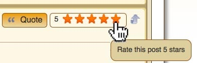forum post rating stars