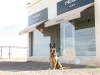 Wyatt at Prada Marfa Store on way to Big Bend Texas