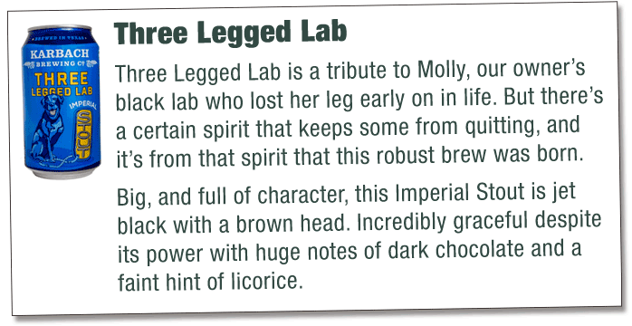 three legged lab info