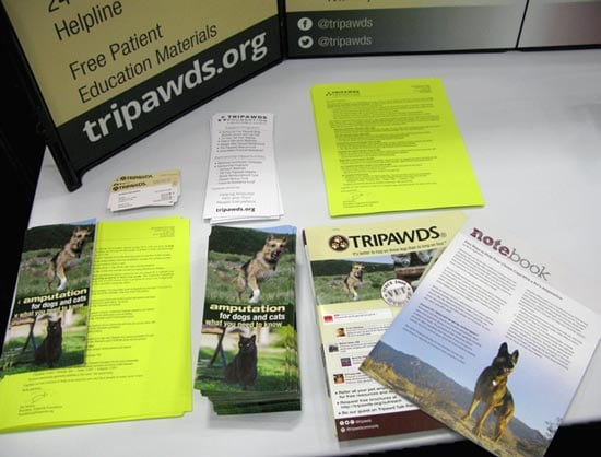 Tripawds Materials and Free Vet Clinic Brochures