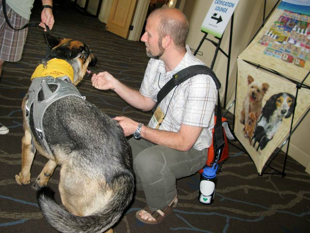 Wyatt meets the Preventive Vet at BlogPaws