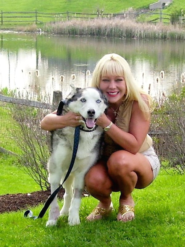 Kim and Buster the Siberian Husky Chondrosarcoma Cancer Dog