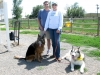Tika and Her Pack at Longmont Tripawds Party
