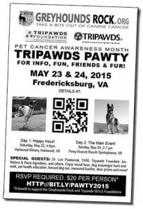 tripawds pawty flier