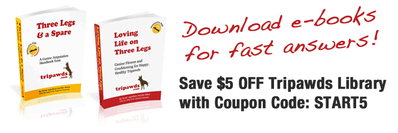 Tripawds E-books Coupon