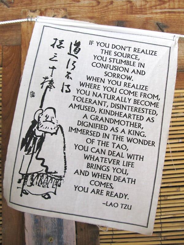 Lao Tzu Prayer Flag Teaches Tolerance