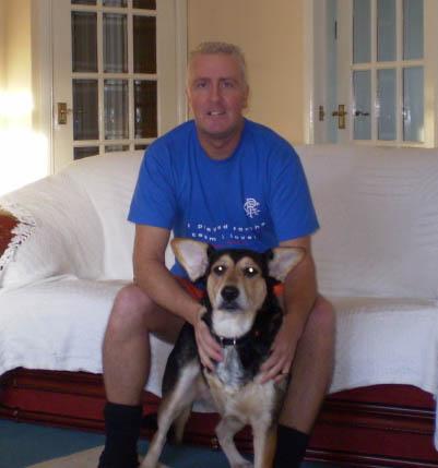 Cooper, the three legged Scottish dog