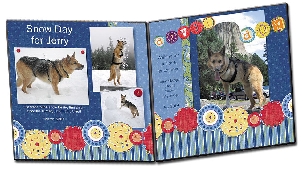 Tripawds Create Digital Scrapbooking Storybooks For Dogs Cats And