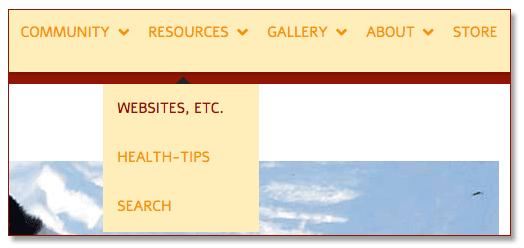 tripawds navigation menu