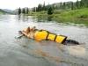 K9 Float Coat Dog Life Preserver helps three legged dogs swim