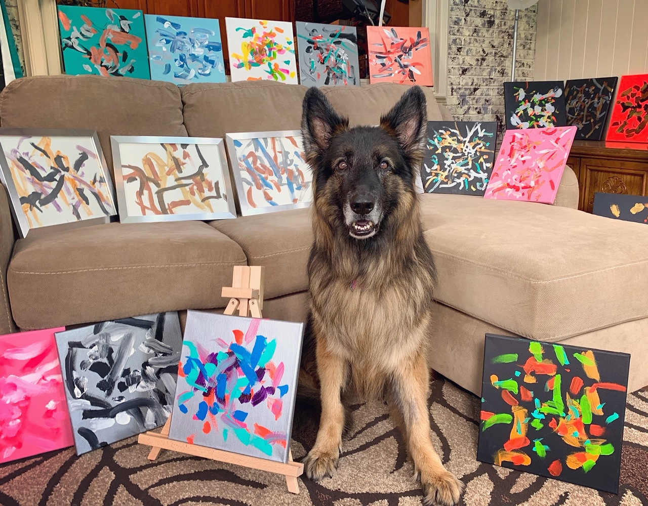 Amputee pets get help from painting dog