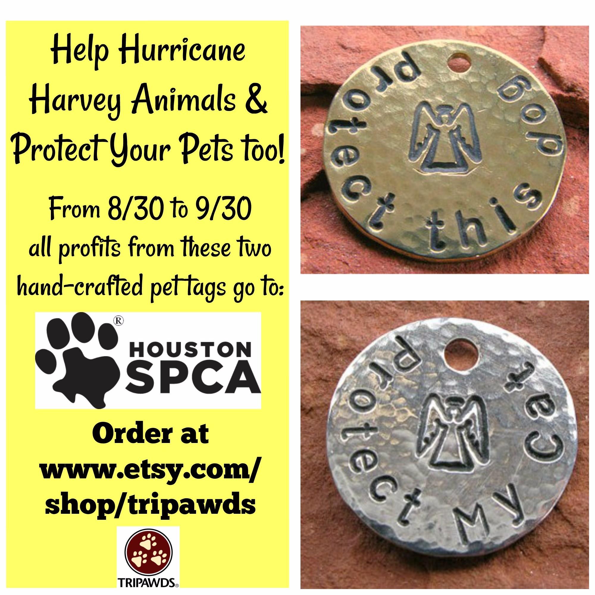 Help #HurricaneHarveyPets with Custom Pet Tags